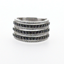 Black and White Diamond Anniversary Band