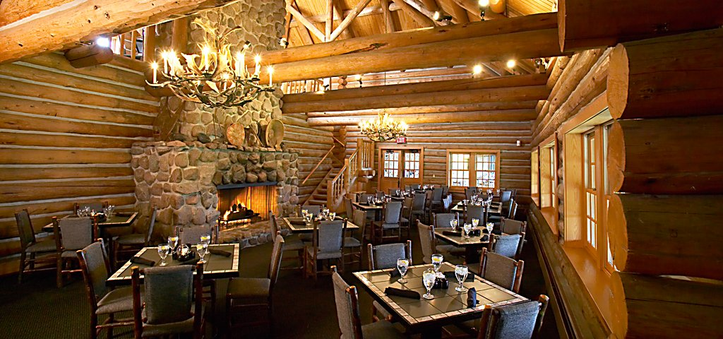 Blackwolf Run Restaurant Dining Room Fireplace