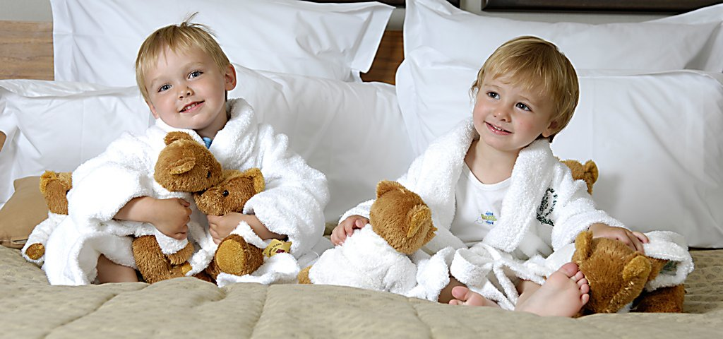 Kids with Teddy Bears at Old Course Hotel
