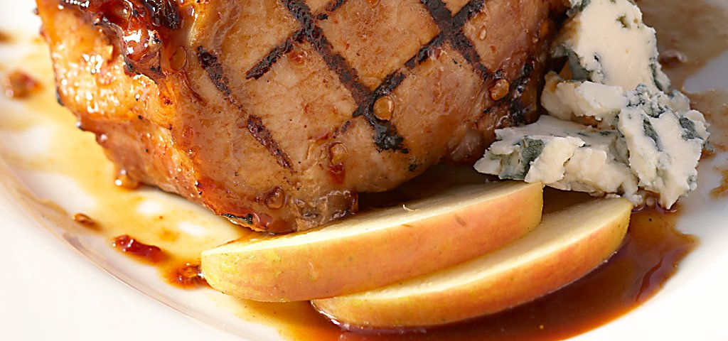 Blackwolf Run Restaurant Plated Stuffed Pork Chops