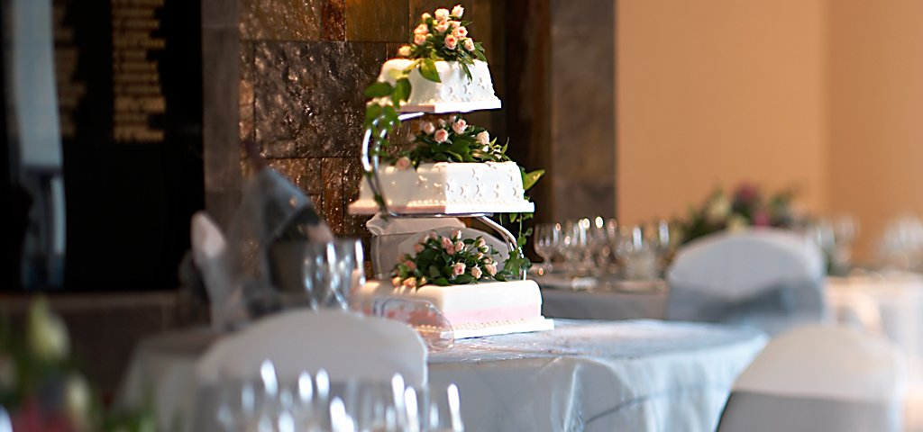 Wedding Cake in Hall of Champions, Old Course Hotel