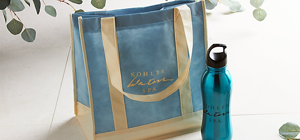 Kohler Waters Spa Re-Useable Tote Bag and Water Bottle