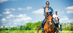 Horseback riding at Destination Kohler