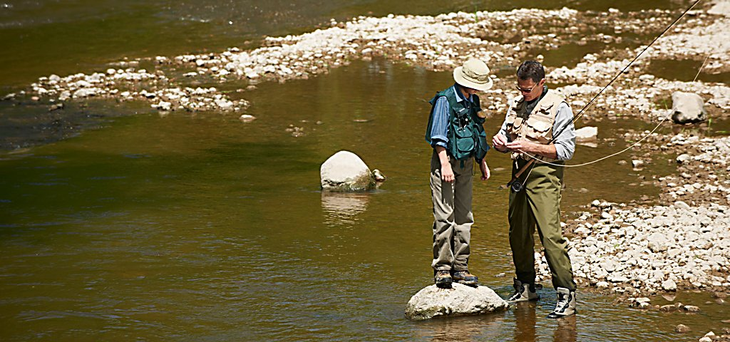 River WIldlife Father and Son Fly Fishing
