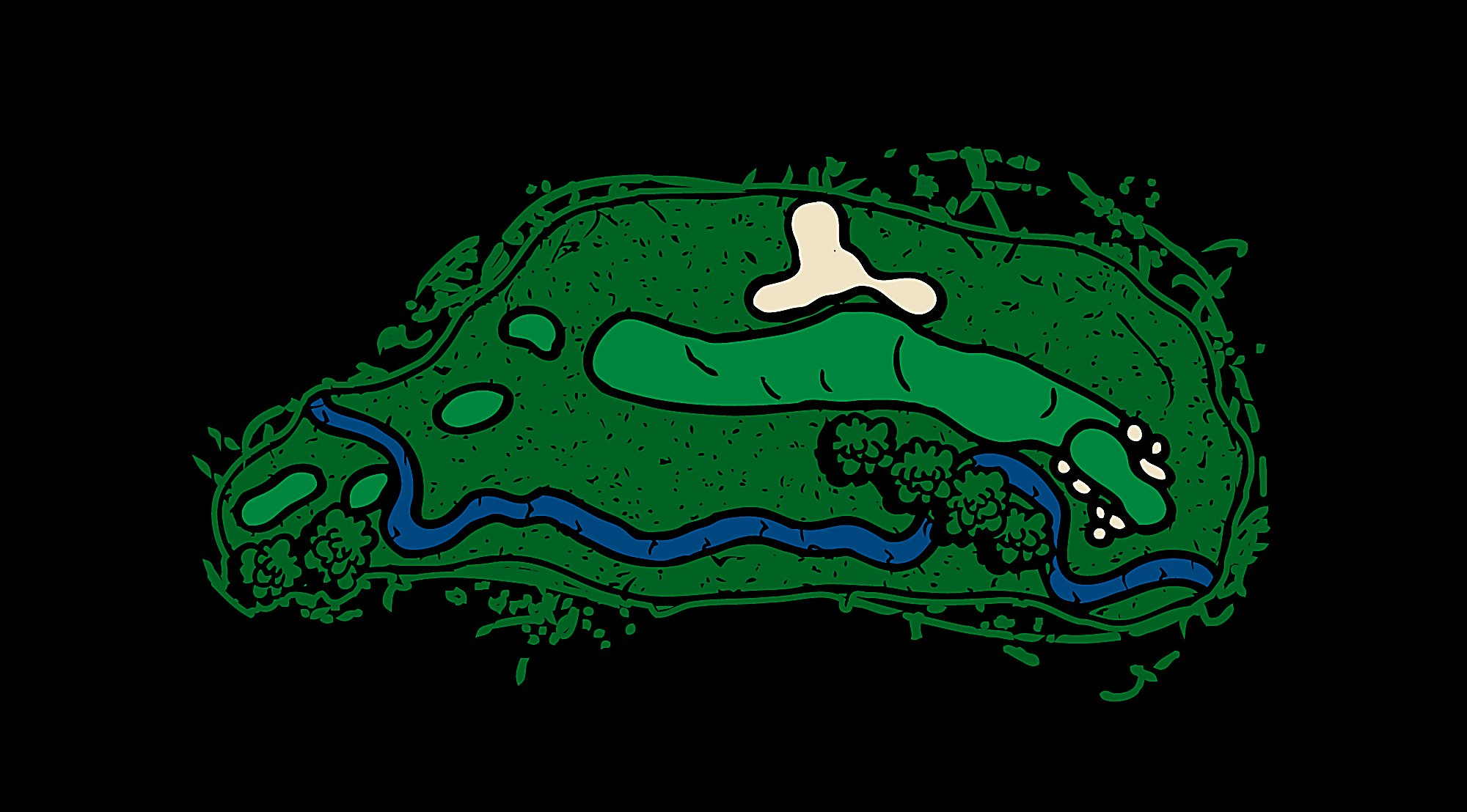 Irish Hole 15 Frog Water Layout