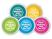 Pastel Giant Washable Color Ink Pads - 5-Color Set
