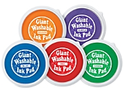 Bright Giant Washable Color Ink Pads - 5-Color Set
