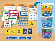 Reading in a Flash! Learning Tubs - K-Gr. 1 - Complete Set