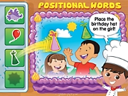 Listening & Following Directions Positional Words Interactive Game