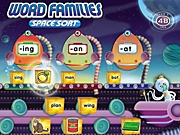 Word Families Interactive Space Sort Game