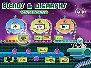 Blends & Digraphs Interactive Space Sort Game