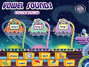 Vowel Sounds Interactive Space Sort Game