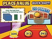 Place Value: Quick Shot! Ticket-To-Win-It Interactive Arcade Game
