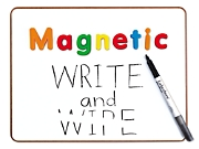 Magnetic Write & Wipe Lapboard - Each