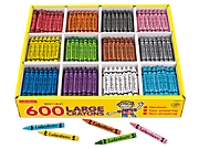 Best-Buy Large Crayons - 12-Color Box