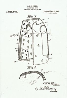 Globe turnout gear patent from 1918