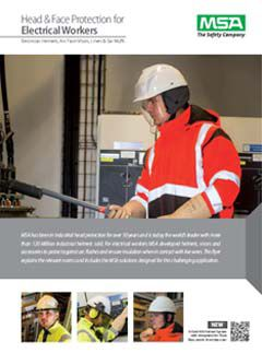 MSA Head & Face Protection for Electrical Workers