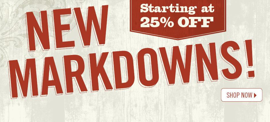 Shop New Markdowns!