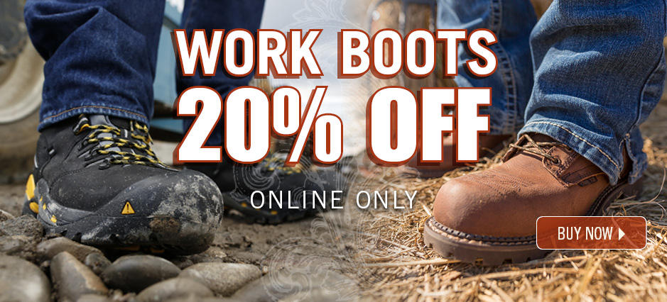 Shop 20% off Work Boots!