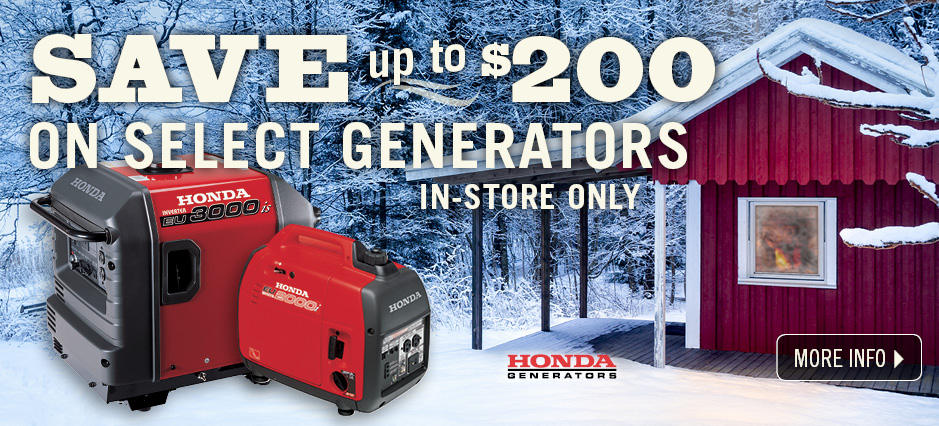 Shop Honda Generators!