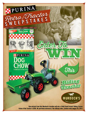 Purina Dog Chow Giveaway - Win this Retro Tractor