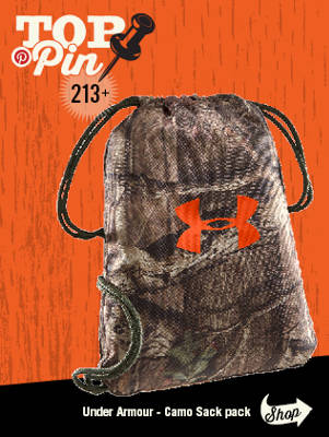Top Pinned Item - Under Armour Camo Sack Pack