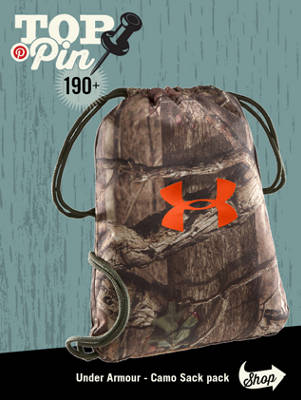 This camo sack pack has been pinned over 190 times!