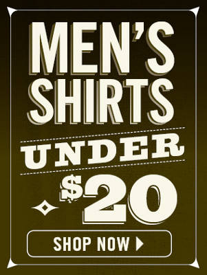 Mens Shirts Under $20 - Nav Mens