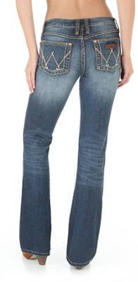 WRANGLER Women's Premium Patch  Mae Boot Cut Jean
