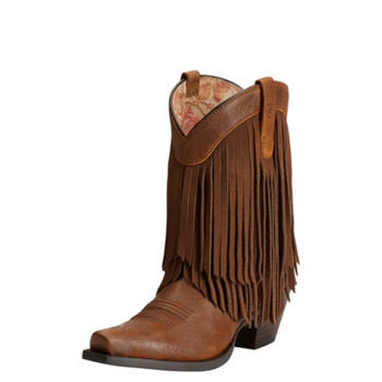murdoch s ariat s terra brown gold fringe boot