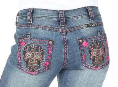 Cowgirl Tuff embroidered jeans