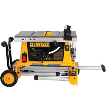 "DEWALT - 10"" Compact Job Site Table Saw w/ Rolling Stand DW744XRS"