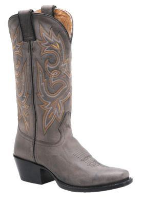 Gray cowboy boots