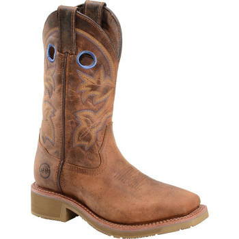 New Women39s Double H Boots Casual Western Slouch Boots Vintage Tan