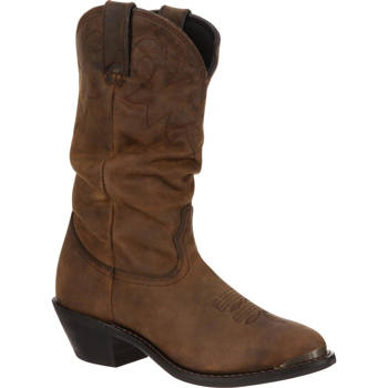 Durango - Women's Distressed Tan Slouch Western Boot