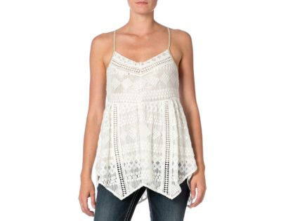 Miss Me Baby Doll Lace Tank