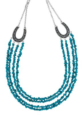 Turquoise strings necklace