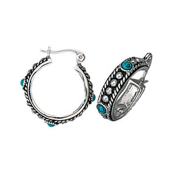 Innovative Home Womens Hoop Earring In Silver Lemaire Hoop Earring In Silver