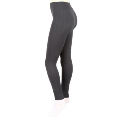 Cable fleece leggings