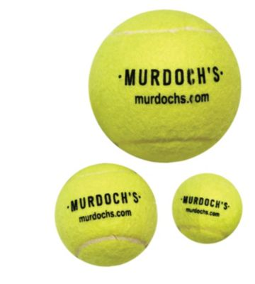 Three different sizes of tennis balls to fit your dog