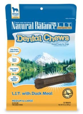 ITEM # 86044631 NATURAL BALANCE DENTAL CHEWS L.I.T. WITH DUCK MEAL FORMULA