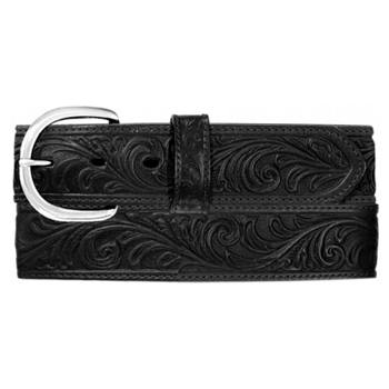"Silver Creek - Men's 1-1/2"" Western Scroll Tooled Belt"