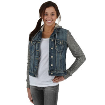 Murdoch's – Silver Jeans - Women's Knit Hooded Denim Jacket