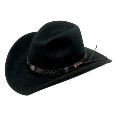 Black wool cowboy hat