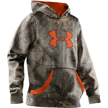 Under Armour - Boys  Big Logo Hoodie - Blaze Orange or Realtree AP    Under Armour Sweatshirts Orange