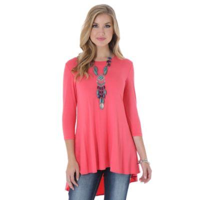 Pink Wrangler hi-lo tunic