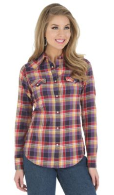 Wrangler plaid flannel