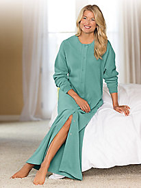 Women's Long Fleece Duster Robe