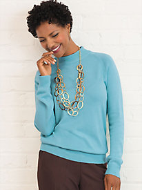 Soft Spun® Long Sleeve Mock Neck Sweater