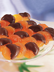 Chocolate-Dipped Glace Dessert Apricots